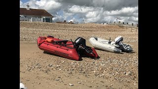 Fishing from Inflatable Boat, Excel SD-330 + Mercury 9.9 4strk