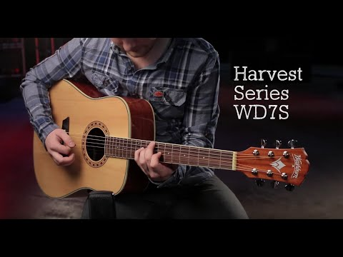 Washburn WD7S Harvest 7 Series Dreadnought Acoustic Guitar