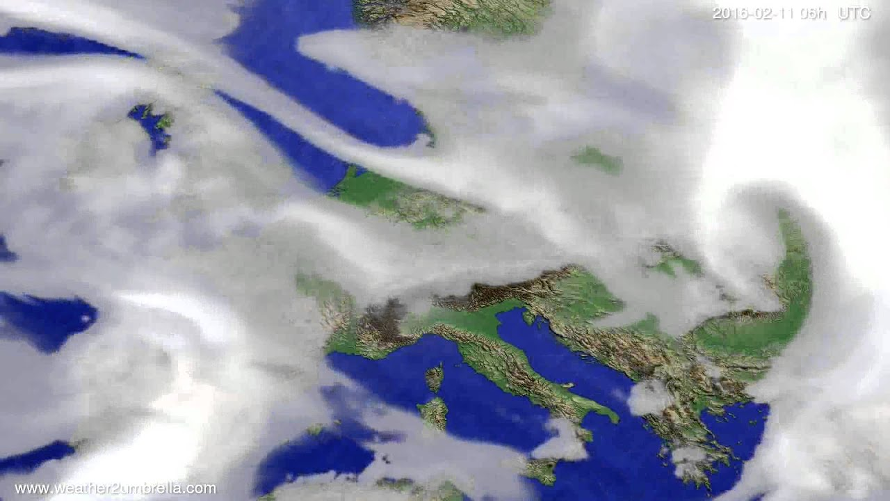 Cloud forecast Europe 2016-02-08