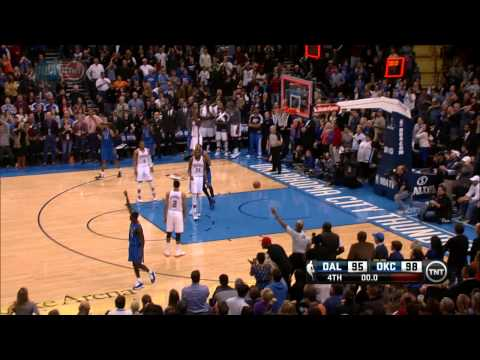 three pointer - Check out this insane three pointer by Darren Collison at the very last second of regulation between the Mavericks & Thunder to tie the game and send it to o...