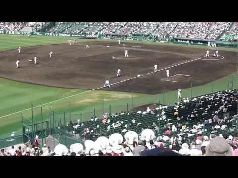 「[野球]夏の甲子園で見せた、習志野高校の満塁からのトリプルスチールをベストアングルで撮影した動画」のイメージ