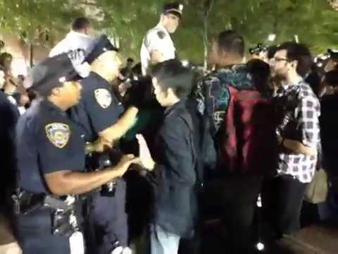 ows - The video of the baton incident with the NYC council member starts at 2min 40sec in. This video was shot live at 11pm 9/17/12 during Occupy Wall Streets 1 ye...