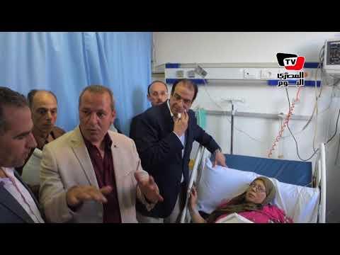 محافظ الدقهلية يتفقد مستشفى المطرية المركزي ويستمع لشكاوى المواطنين