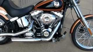 2. 2008 Harley-Davidson Softail custom, 105th anniversary, custom exhaust, for sale in Texas