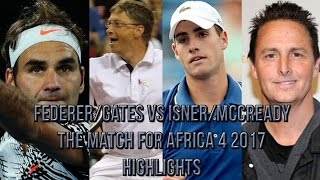 Support The Match for Africa 4 here! https://www.facebook.com/RFFCFund/ For more matches contact: samtennisenquiries@gmail.com Highlights of the doubles ...