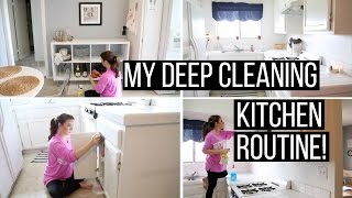 My Deep Cleaning Kitchen Routine | Hayley Paige