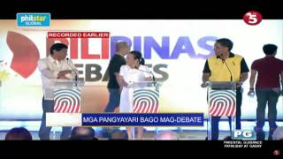 Video Behind the scenes: Duterte, Poe, Roxas have light banter before debate MP3, 3GP, MP4, WEBM, AVI, FLV Juni 2018
