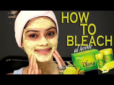 How to Bleach Face At Home | Herbal Bleach At Home | Natural Face Bleach | Foxy Makeup