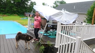 OUR HOUSE POUNDED BY STORMS!!