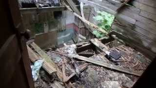 4. Exploring inside of a dangerous house and Prospecting for Gold!