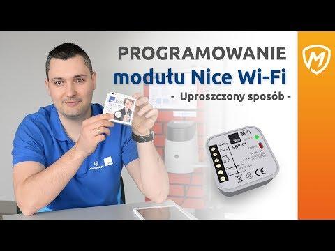 Instrukcja aktywacji i zaprogramowania modułu Nice Wi-Fi.