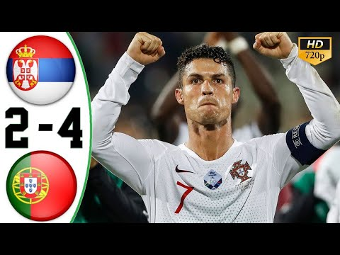 Serbia vs Portugal 2-4 Goals and English Commentary extended highlights 08.08.2019