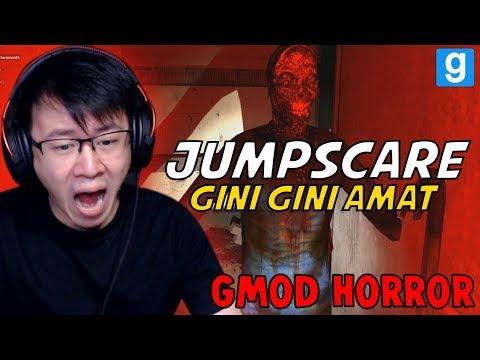 AUTO JUMPSCARE!!! BEGINI AMAT GAMENYA YAH!!! - GMOD HOROR INDONESIA (видео)