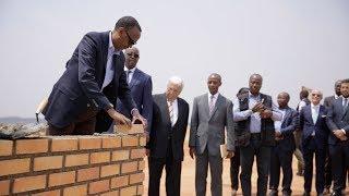 Perezida Kagame Paul yashyize ibuye ry'ifatizo ahazubakwa ikibuga mpuzamahanga cy'indege cya Bugeser