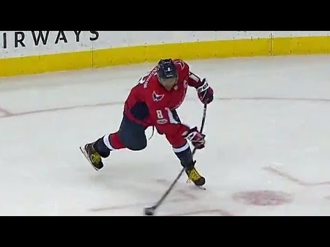 Video: Capitals' Ovechkin fires laser past Bobrovsky from his office
