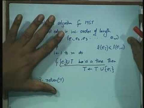Lecture - 31 Minimum Spanning Trees