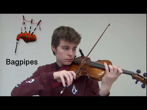Five Instruments Played On A Violin