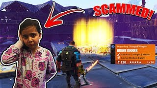 Video MY 5 YEAR OLD LITTLE SISTER GOT SCAMMED ON FORTNITE SAVE THE WORLD!! (SCAMMER GETS SCAMMED!) MP3, 3GP, MP4, WEBM, AVI, FLV Mei 2018