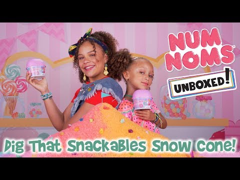 UNBOXED! | Num Noms | Season 3 Episode 3: Dig That Snackables Snow Cone!