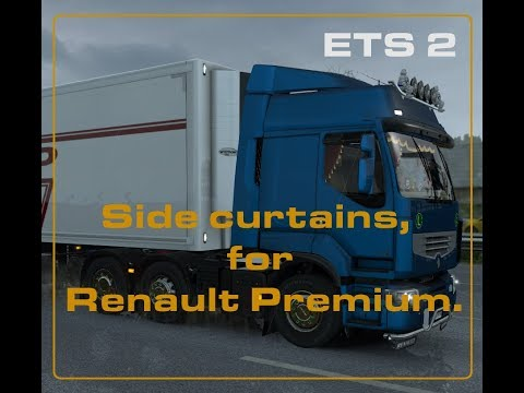 Animated Side Curtains for Renault Premium 1.30