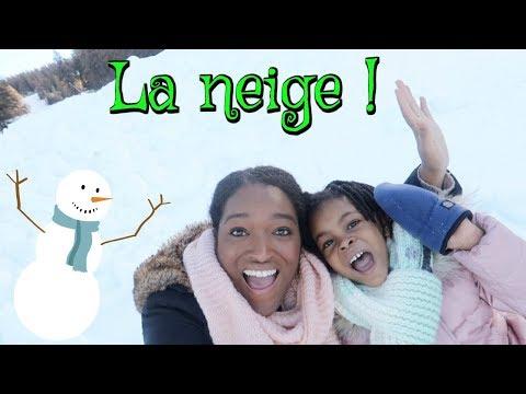 WEEK END A LA MONTAGNE et UN BONHOMME DE NEIGE !