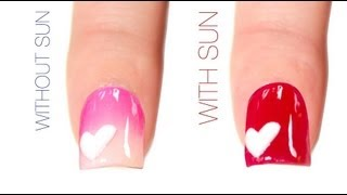 Valentines Day Color-Changing Nail Art Design