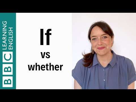 If vs Whether - English In A Minute