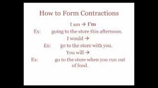 Contractions and Homonyms