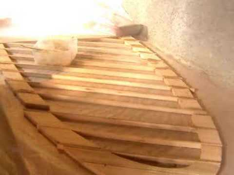Building a wooden surfboard frame panel