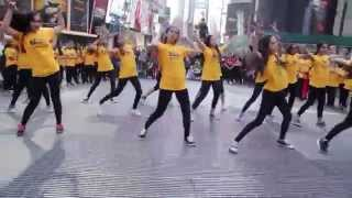 iifa flash mob Times Square, NY USA