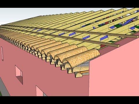 Mod lisation trois dimensions toiture couverture configuration en l b tir s - Batir sa maison over blog ...