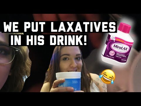 PRANK: WE PUT LAXATIVES IN HIS DRINK!