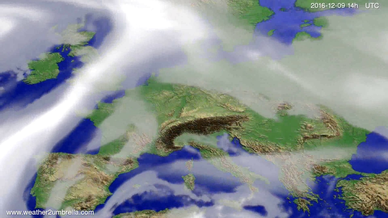Cloud forecast Europe 2016-12-05