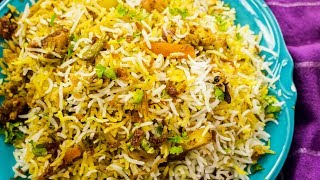 Biryani, Biriyani or Biriani is a slow cooked layered rice dish over pressure with Veggies or Meat, Spices, Fried Onions, and Yogurt. This Hyderabadi Version of the Biryani is devoured by all, today let's make the same restaurant style Hyderabadi Vegetable Dum Biryani at home. Detailed Recipe is mentioned below.Subscribe to #seesomethingnew: http://goo.gl/Pw8vy7 CookingShooking on Instagram http://www.instagram.com/Cooking.ShookingYaman on Instagram http://www.instagram.com/yaman.agBusiness Emails - business@cookingshooking.comIngredients:Veggie Marinate: Dahi / Yogurt - 1/2 cupCoriander Powder - 1 tspRed chili Powder - 1 tspBiryani masala - 2 tbspCumin Seeds - 1 tspGreen chili - 3 Salt - 1 1/2 tspCoriander leaves - 3-4 tbspMint - 2-3 tbspTurmeric - 1/2 tspVeggies and Paneer - 1 1/2 to 2 cup totalFor Rice:  Water - 6-7 cupCumin Seeds - 1 tspOil - 1 tbspLemon Juice - 1 tspSalt - 1 - 2 tbspBasmati Rice - 2 1/2 cup (soaked for 30 mins)For Assembling:Ghee - 3 tbsp + 1 tbspCumin Seeds - 1 tspCashewnuts - 3 tbspGreen Cardamom - 3-4 Cloves - 3-4 podsCinnamon - 1'Ginger Garlic Paste - 1 tbspBirista / Fried Onion - 6-7 tbspDahi -  1/2 cupWater - 1/4 cupSaffron - 1 pinch (soaked in hot water) Website: http://www.cookingshooking.com  http://www.cookingshooking.inFb: http://www.fb.com/cookingshookingBlog: http://www.cooknshook.blogspot.com