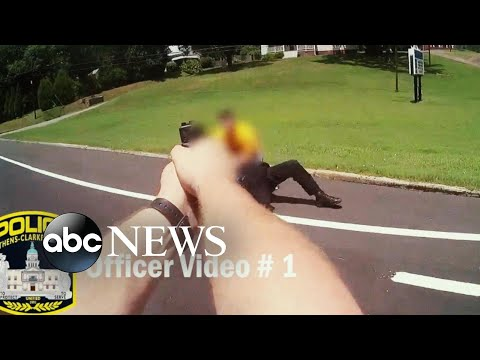 Police bodycam footage shows officers asking man to put down knife