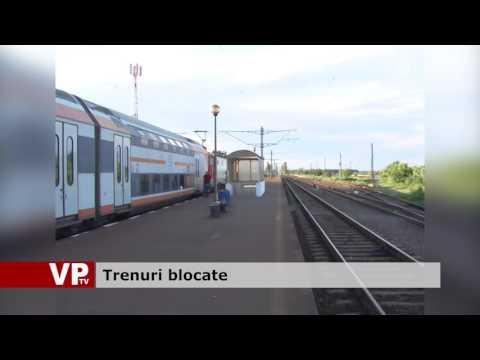 Trenuri blocate