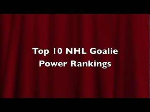 Top 10 NHL Goalie Power Rankings