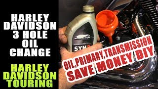 8. How To Do A Complete 3 Hole Oil Change Harley Davidson Touring