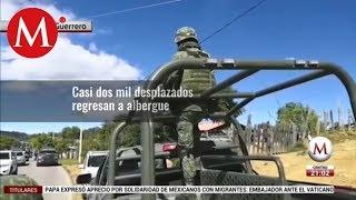 Reciben a balazos a caravana de desplazados en Guerrero