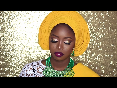 NIGERIAN BRIDAL INSPIRATION: YORUBA BRIDE/GELE TUTORIAL