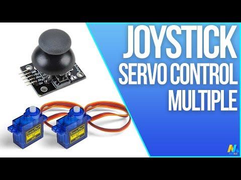 Multiple Servo Motor Control with Joystick and Arduino
