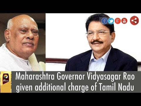 Maharashtra-Governor-Vidyasagar-Rao-given-additional-charge-of-Tamil-Nadu