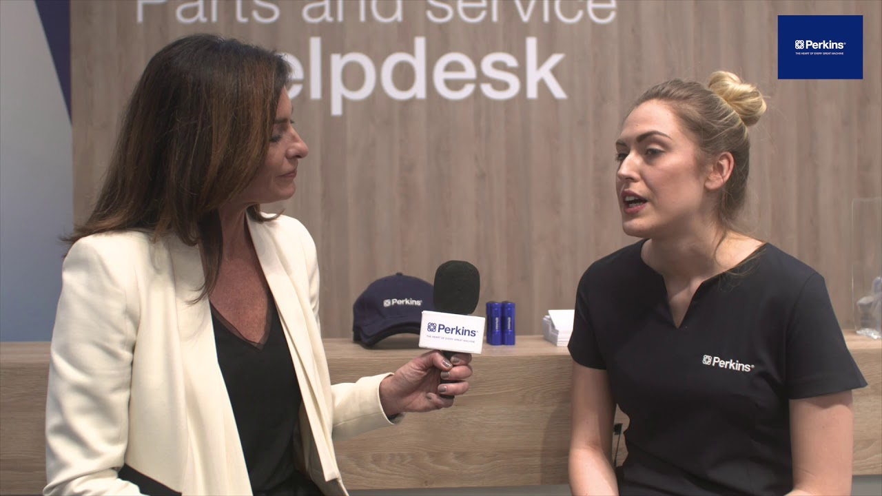 Catherine Dorman on Perkins first ever parts and service stand at bauma Munich 2019