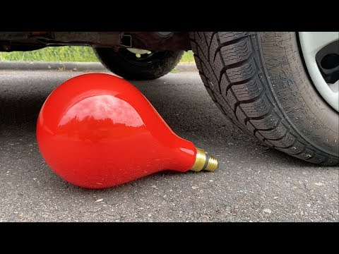EXPERIMENT: Car vs XXL Light Bulb - Crushing Crunchy & Soft Things by Car!