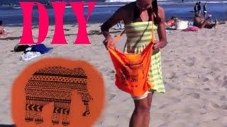 DIY NO SAND Beach Bag! -HowToByJordan - YouTube