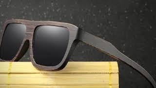 Gafas Unisex Straight Eyebrown - Bambú ébano