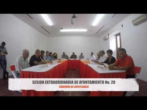 Sesión Extraordinaria No. 20 de Ayuntamiento 26 de agosto de 2016