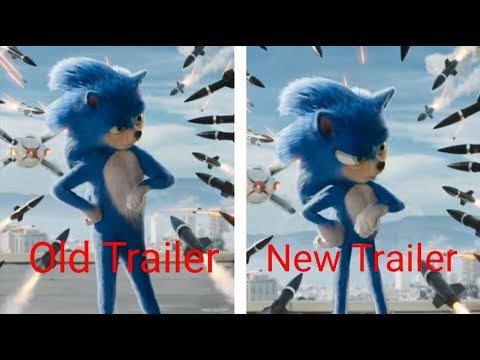 Old Sonic The Hedgehog Trailer Vs The New Sonic The Hedgehog Trailer!!!