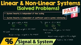 Linear and Non-Linear Systems (Solved Problems) | Part 3
