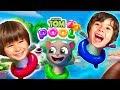 TALKING TOM POOL con Dani y Evan  🌊Juegos y aplicaciones para niños